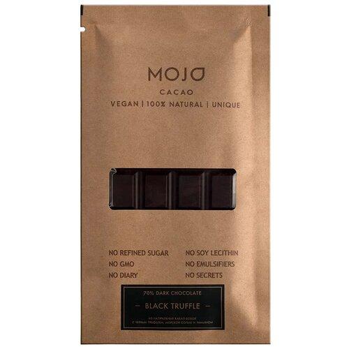 Шоколад Mojo Cacao Black Truffle горький с черным трюфелем, морской солью и тимьяном, 80 г