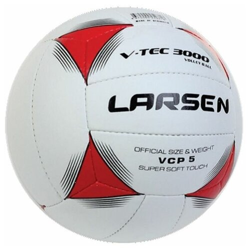 Волейбольный мяч Larsen V-tec3000 бело-красный