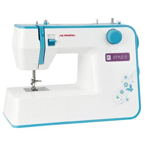 Швейная машина Aurora STYLE 5 бело-голубой