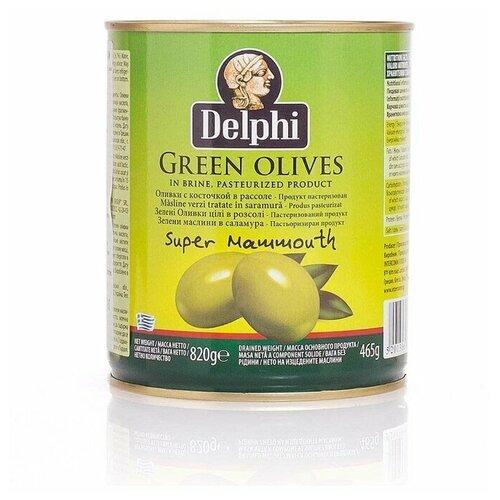 Оливки с косточкой в рассоле Super Mammouth 91-100 DELPHI 820г недорого