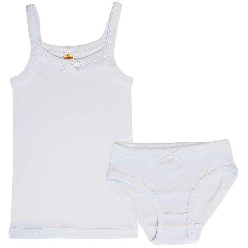 Комплект нижнего белья Папитто размер 104-110, белый, Белье и купальники  - купить со скидкой