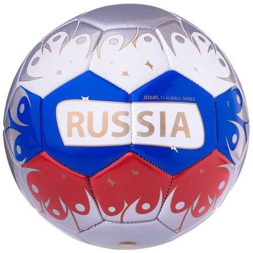 Футбольный мяч Jogel Russia серебристый/белый/красный/синий 5