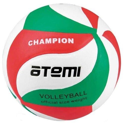 Волейбольный мяч ATEMI Champion зеленый/белый/красный