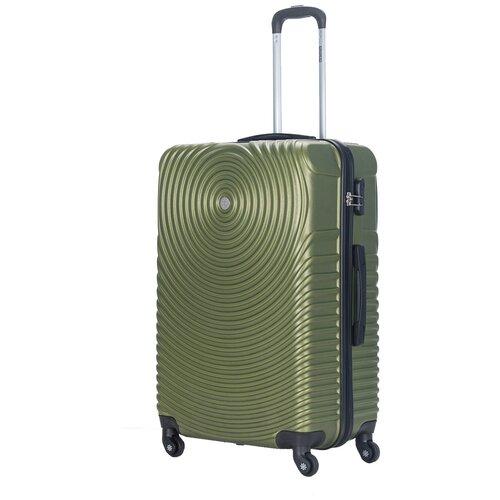 Фото - Чемодан PROFFI Tour Space M 60 л, оливковый чемодан proffi travel tour fashion 24 pp пластиковый средний 64 5х47х27 желтый