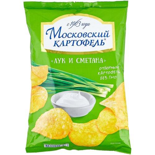 Чипсы Московский КАРТОФЕЛЬ картофельные Лук и сметана, 130 г