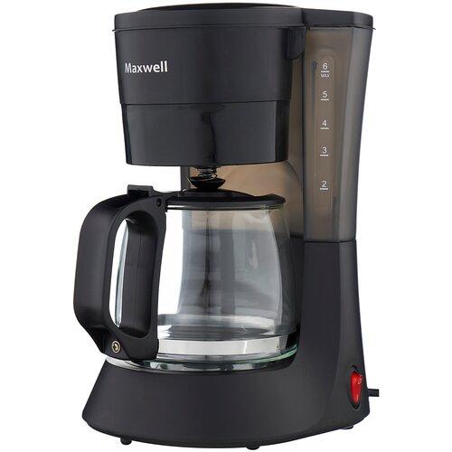 Кофеварка капельная Maxwell MW-1650, черный