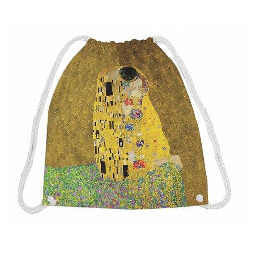 Купить JoyArty Рюкзак-мешок Густав Климт Поцелуй (bpa_4889) коричневый, Мешки для обуви и формы
