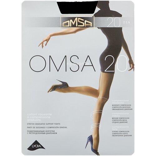 Колготки Omsa Omsa, 20 den, размер 3-M, nero (черный) колготки omsa attiva 20 den размер 3 m nero черный