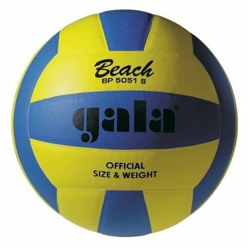 Мяч волейбольный GALA Beach пляжный клееный (PU), BP 5051 S, Желто-Синий,