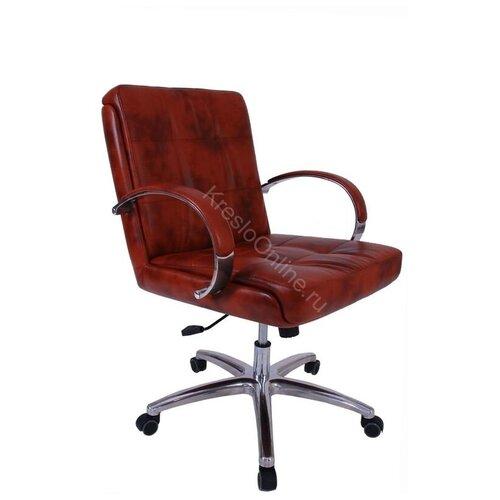 Кресло офисное Президент Хром низкая спинка