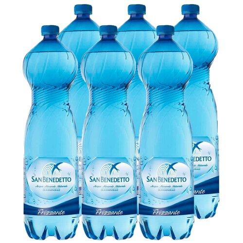 Минеральная вода San Benedetto газированная, ПЭТ, 6 шт. по 1.5 л вода san bernardo газированная 1 л