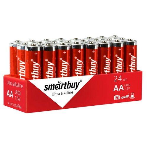 Фото - Батарейка SmartBuy AA LR6 Ultra Alkaline, 24 шт. батарейка smartbuy one eco alkaline aa 40 шт