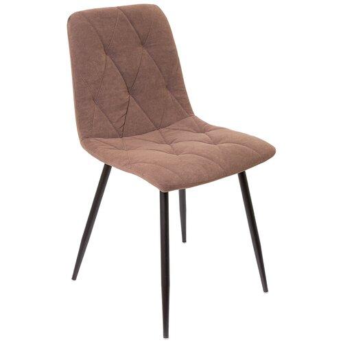 Кухонный стул, СтолБери, Ричи, велюр коричневый, металлокаркас муар чёрный