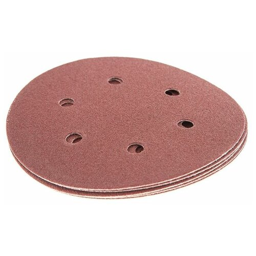 Фото - Шлифовальный круг на липучке Hammer 214-015 150 мм 5 шт шлифовальный круг на липучке hammer 214 016 150 мм 5 шт