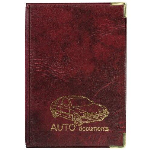 Обложка для автодокументов Топ-спин А5-12, коричневый