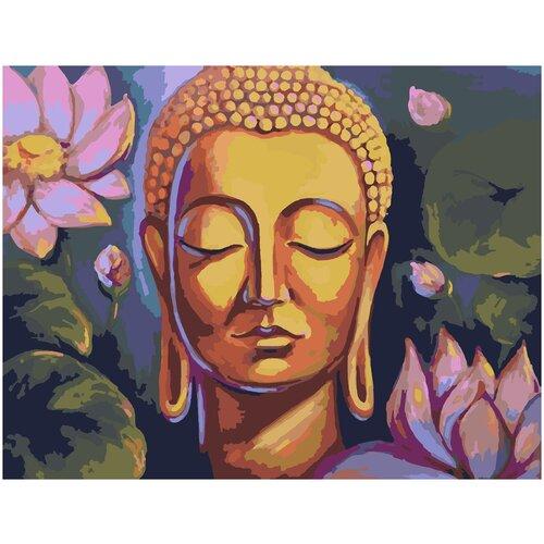 Картина по номерам Будда и Лотосы, 60 х 70 см, Красиво Красим, Картины по номерам и контурам  - купить со скидкой