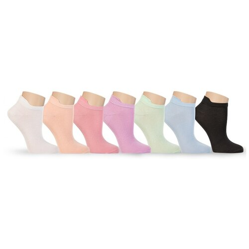 Носки женские LorenzLine Б7 укороченные, 90% бамбук, Чёрный, 25 (размер обуви 37-38)
