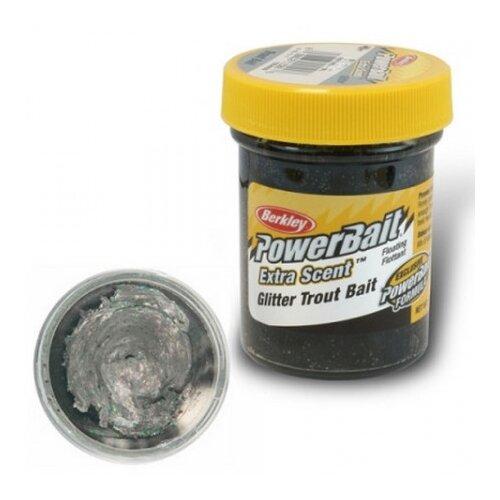 Паста форелевая Berkley PowerBait Select Glitter Trout Bait (Black Pearl/)