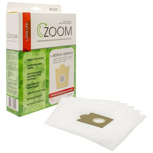 Фото - Синтетические пылесборники ZOOM 5 шт для пылесоса SIEMENS VS90A00 - VS90A99 SUPER L цифровая микшерная консоль zoom l 8 zoom