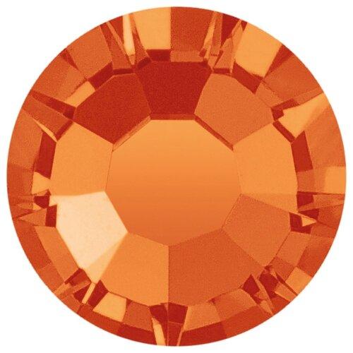 Купить Стразы клеевые PRECIOSA 3, 9 мм, стекло, 144 шт, оранжевые, 90040 (438-11-615 i), Фурнитура для украшений
