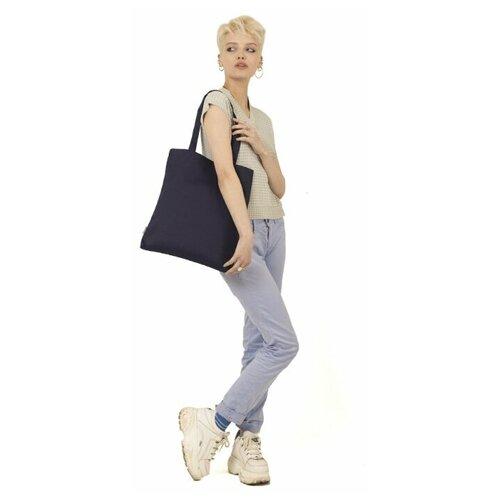 Сумка-шоппер eco.hizmat Ecoshopper синий 100% хлопок