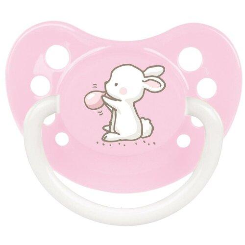 Купить Пустышка силиконовая ортодонтическая Canpol Babies Little cuties 6-18 м, розовый, Пустышки и аксессуары
