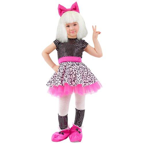 Купить Костюм пуговка Кукла Лола (2101 к-20), розовый/черный, размер 116, Карнавальные костюмы
