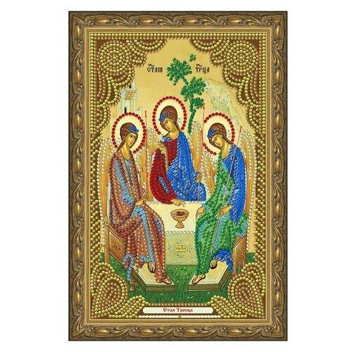 Алмазная живопись иконы Color Kit Святая Троица 20х30