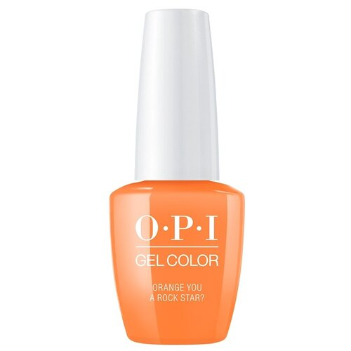 Фото - Гель-лак для ногтей OPI GelColor Neon, 15 мл, Orange You a Rock Star? opi гель лак для ногтей gelcolor scotland rub a pub pub 15 мл