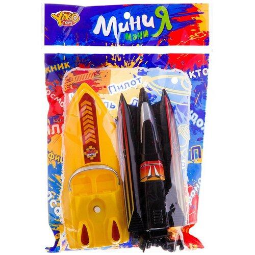 Набор для ванной Yako МиниМаниЯ Катера (M7109) желтый/черный