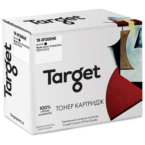 Фото - Тонер-картридж Target SP200HE, черный, для лазерного принтера, совместимый тонер картридж target 051h черный для лазерного принтера совместимый
