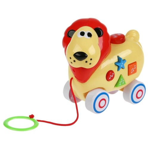 Фото - Каталка-игрушка Умка Лев (B610853-R) желтый игрушка для ванной умка бегемотик b1410463 r красный желтый зеленый