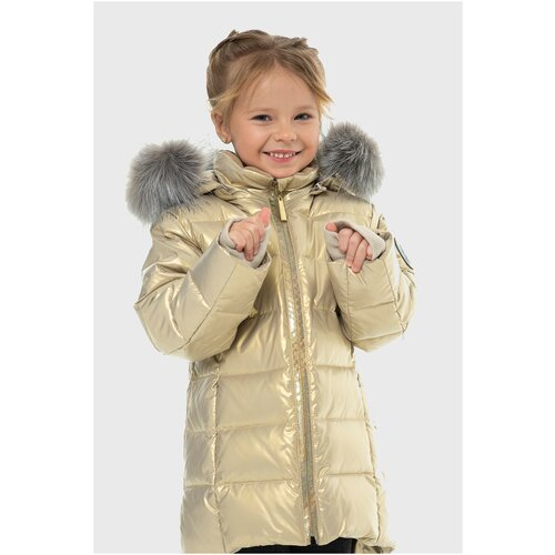Купить Полупальто для девочки Talvi 80811, размер 086/48, цвет золотой, Пальто и плащи