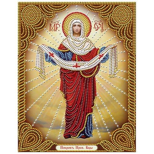 Алмазная живопись Набор алмазной вышивки Икона: Покров Пресвятой Богородицы (АЖ-5021) 22x28 см
