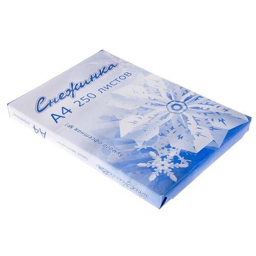 Бумага А4 250л Снежинка, 80г/м2, бел 146% CIE, класс С 177807