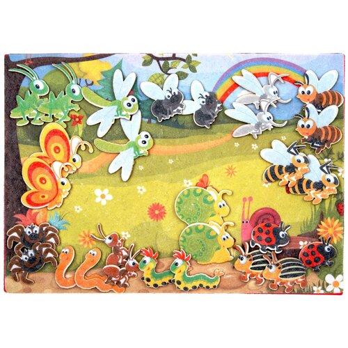 Купить Развивающая игра из фетра на липучках Насекомые , Веселые липучки, Развивающие коврики
