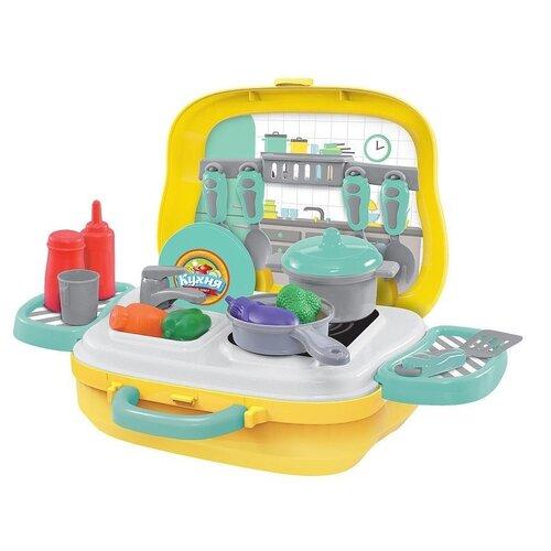 Купить Игровой набор ABtoys Чудо-чемоданчик на колесиках, Маленький шеф-повар (PT-01271), Игрушечная еда и посуда