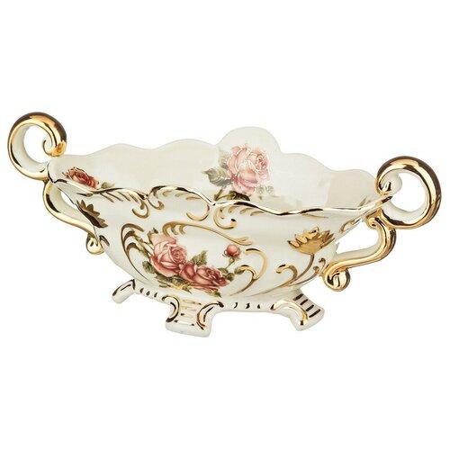 Lefard Фруктовница Корейская роза 30 х 15 см бежевый/золотой/розовый lefard заварочный чайник корейская роза 1 3 л белый розовый золотой