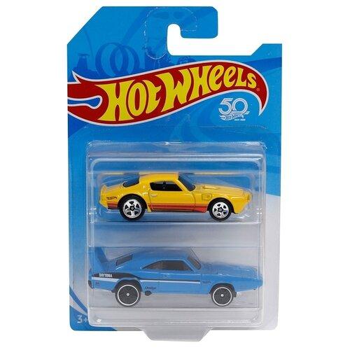 Купить Набор машин Mattel Hot Wheels, базовые машинки, 2 шт (FVN40), Машинки и техника