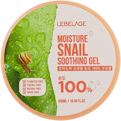 Гель для тела Lebelage Moisture Snail Purity 100% Soothing Gel Увлажняющий успокаивающий с муцином улитки, 300 мл гель для тела lebelage moisture avocado 100% soothing gel универсальный с экстрактом авокадо 300 мл