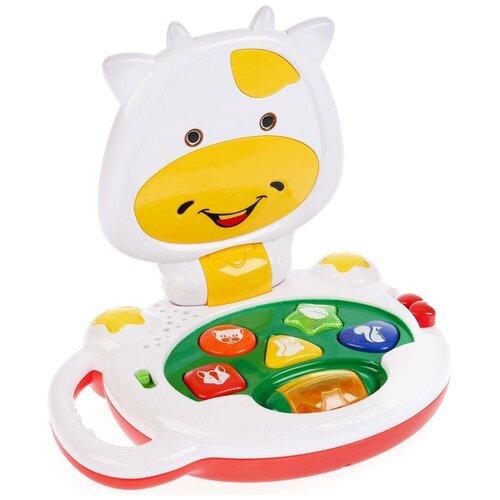 Фото - Развивающая игрушка Умка Обучающая коровка, белый/желтый/зеленый/красный игрушка для ванной умка бегемотик b1410463 r красный желтый зеленый