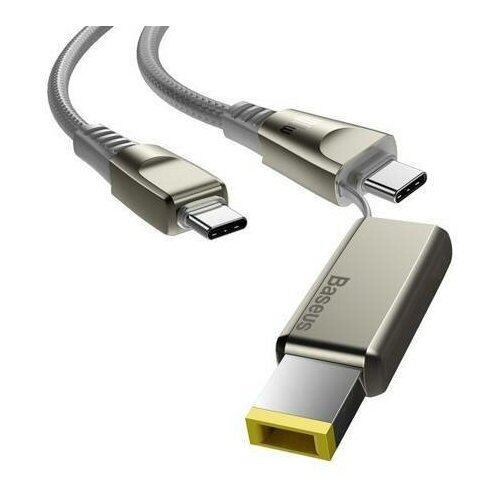 Кабель Baseus One-for-two Fast Charging Cable USB Type-C - USB Type-C/DC 5 A 2 м цвет Серый кабель baseus double fast charging usb usb type c catkc 1 м красный