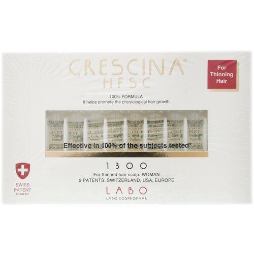 Купить Crescina Ампулы для стимуляции роста волос для женщин, дозировка 1300: лечение облысения, 3.5 мл, 10 шт.