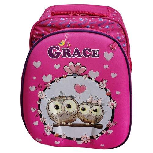 Школьный рюкзак для девочки/Ранец школьный/Портфель школьный/Ортопедический рюкзак для первоклассника/Ранец с совами GRACE R-24/2 iHOME