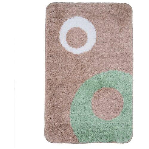 Фото - Коврик My Space Mint MM5080005, 50х80 см бежевый/зеленый коврик для ванной my space mm5080005 800х500мм микрофибра