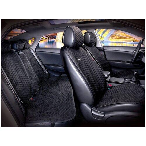 Комплект накидок на автомобильные сиденья CarFashion CAPRI PRO PLUS черный/черный/черный