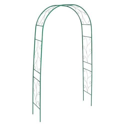 Арка садовая 240 х 120 х 36.5 см, разборная, металл, зелёная