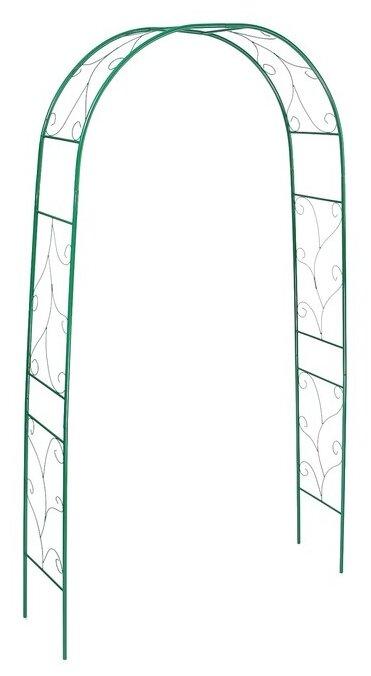 """Арка садовая 240 х 120 х 36.5 см, разборная, металл, зелёная """"Веточка"""" УС 4191888 — купить по выгодной цене на Яндекс.Маркете"""