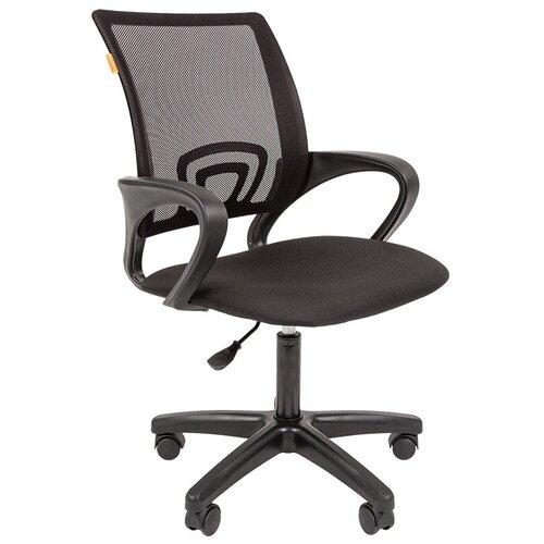 Компьютерное кресло Chairman 696 LT офисное, обивка: текстиль, цвет: черный недорого
