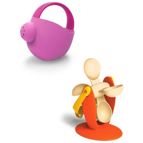 Купить Набор игрушек для песочницы: Мягкая лейка большая розовая арт.16076 + Мягкое водное колесо №1 оранжевое арт.16057, Биплант, Игрушки для ванной